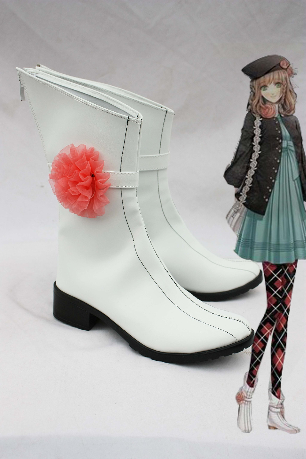 AMNESIA heroine cosplay middle shoes white boots