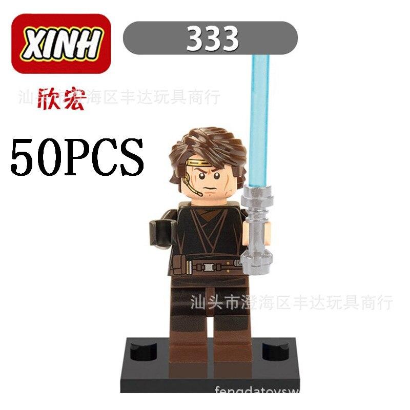 gifts Pogo Wholesales XH333 50PCS Star Wars Building Blocks Bricks Toys Action Figures Compitable With Legoe