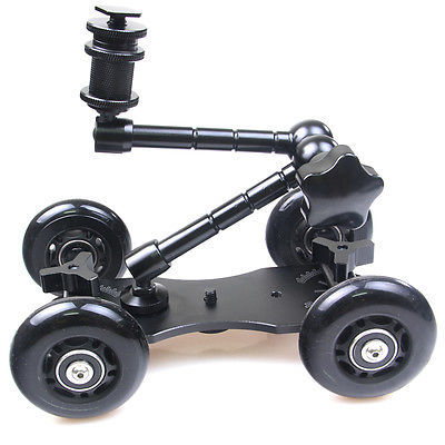 Mobile Rolling Sliding Dolly Stabilizer Skater Slider 11 Articulating Magic Arm for GoPro 4 3 3