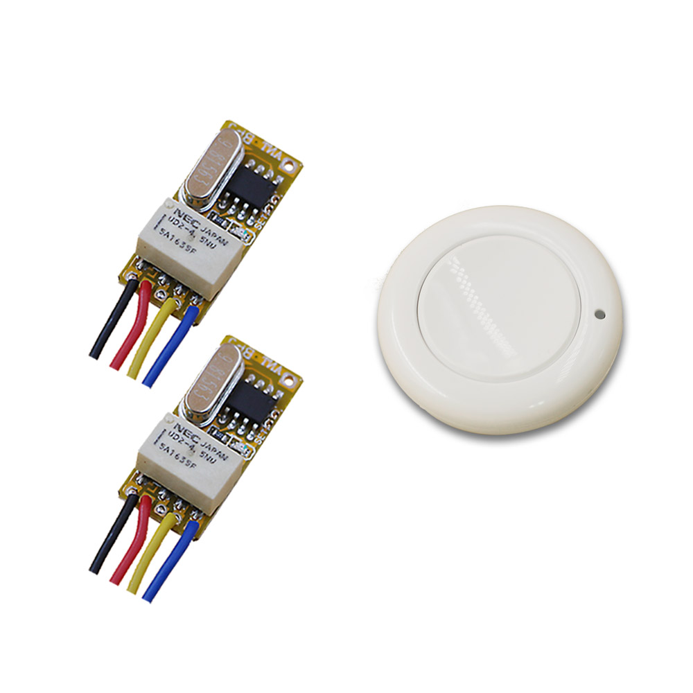 Top Sale Micro Relay Wireless Remote Control Switch Smart Home RF Mini Receiver Transmitter DC 3.7V 5V 9V 4.2V 12V 315/433mhz dc 3 5v 12v mini relay 2 receiver
