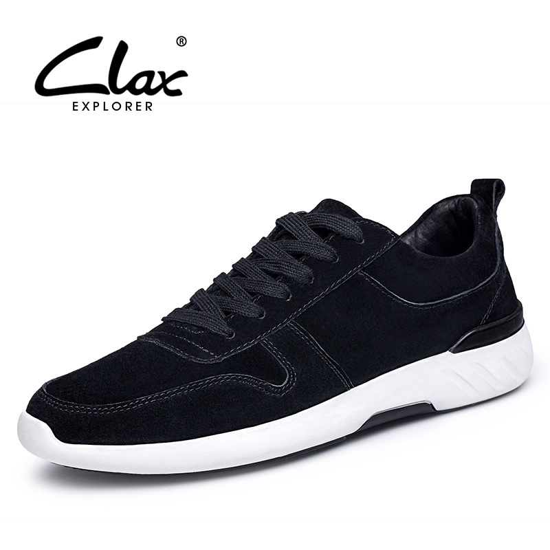 CLAX Men's Casual Shoes 2018 Spring Summer Suede Leather Shoe Male Fashion Walking Footwear Soft Comfortable Leisure Shoe clax men flat casual shoes 2018 spring summer fashion leisure shoe male suede leather loafer slip on breathable walking footwear
