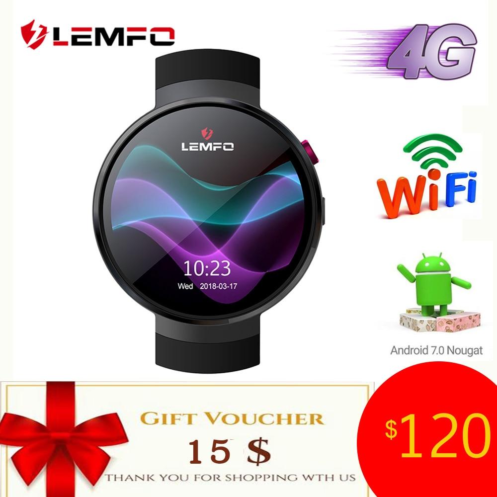 LEMFO LEM7 4G Android 7,1 Смарт часы Для мужчин 1 ГБ + 16 ГБ 2MP Камера gps WI-FI 580 мАч большой батарея 1,39 дюймов AMOLED Экран Smartwatch