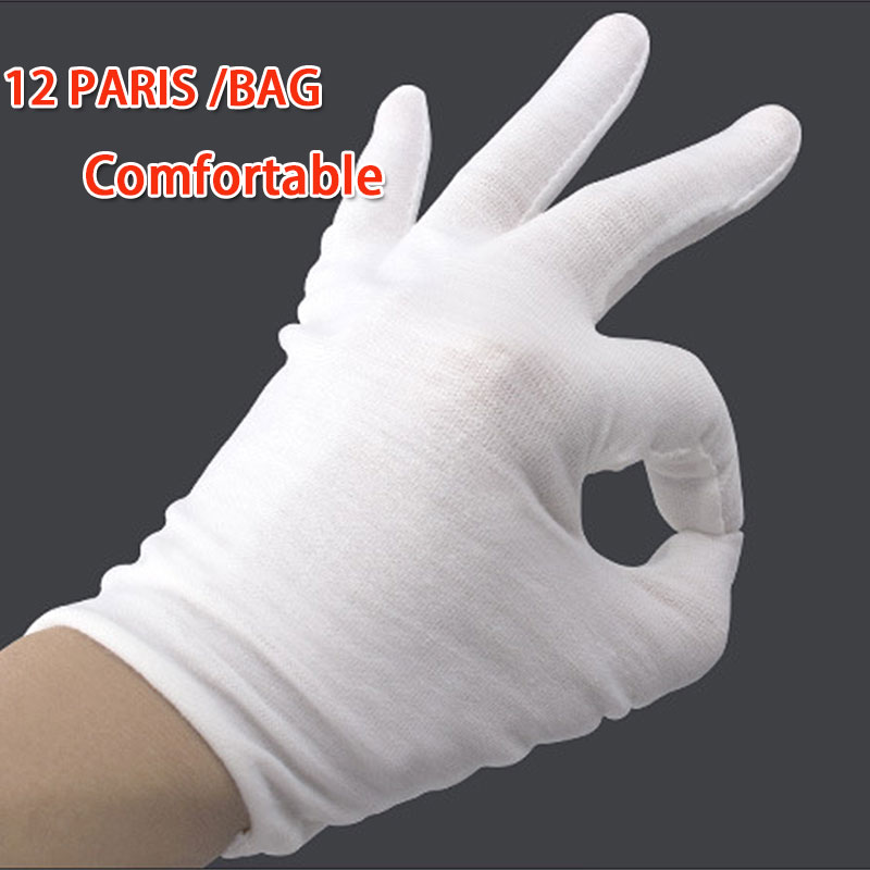 NMSafety White Labor Insurance Thick Cotton Work Cotton Cloth Thin Serving / Waiters/drivers/Jewelry Gloves