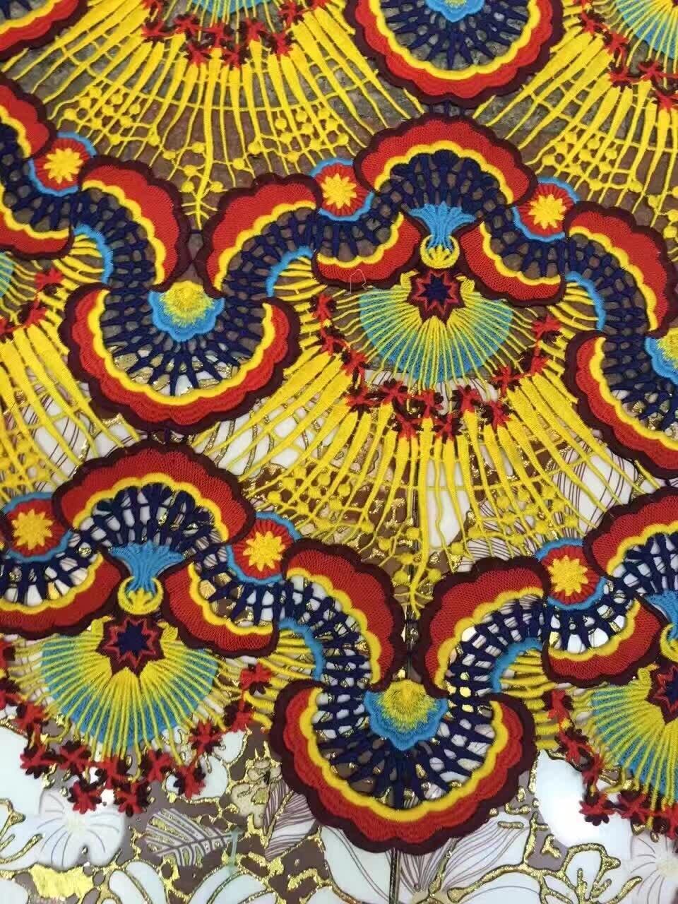 2018 dernier tissu de dentelle de coton africain magnifique tissu de dentelle de mode française pour la broderie de mariage tissu de dentelle africaine 5 yard ZL64