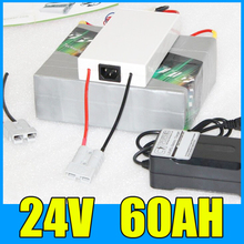 24V 60AH Lithium Battery Pack , 29.4V 1400W Electric bicycle Scooter solar energy Battery , Free BMS Charger Shipping
