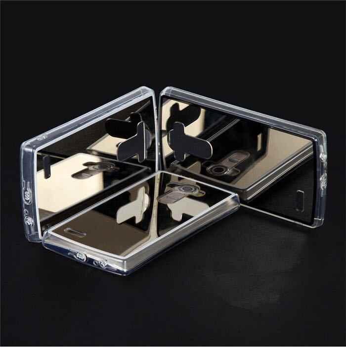 Espejo a prueba de golpes TPU funda de silicona suave para LG V30 V20 V10 G5 G4 G3 G6 G7 X500 X600 cubierta pura Fundas Capa