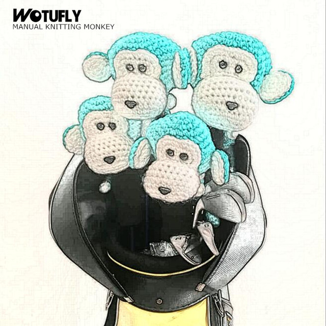 WOTUFLY Manual Knitting Golf Driver Headcovers Handcraft Monkey Head on cartoon monkey eating, cartoon monkey baseball, cartoon monkey band, cartoon monkey writing, cartoon monkey painting, cartoon monkey throwing, cartoon monkey garden, cartoon monkey sports, cartoon monkey fish, cartoon monkey construction, cartoon monkey education, cartoon monkey surfing, cartoon monkey football, cartoon monkey traveling, cartoon monkey skateboarding, cartoon monkey basketball, cartoon monkey playing soccer, cartoon monkey computer, cartoon monkey pool, cartoon monkey birthday party,