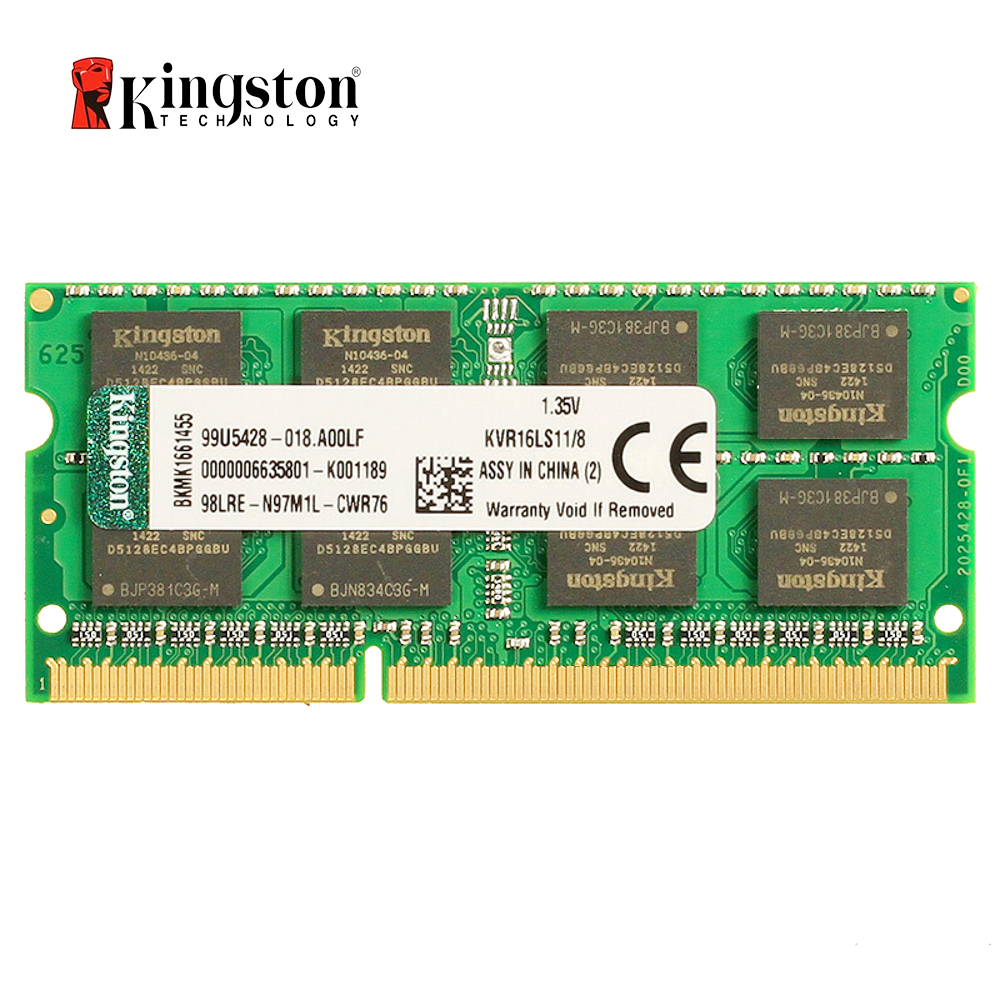 Kingston DDR3L 8 GB 1600 MHz DDR3 8 GB baja tensión SO-DIMM Notebook Ram (KVR16LS11/8 GB)
