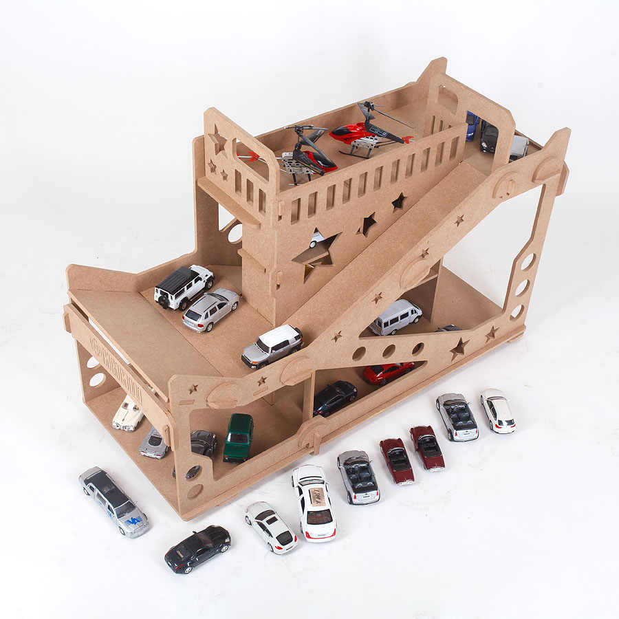 Car Garage Car Parking Auto Track Model Vehicle Toy Car