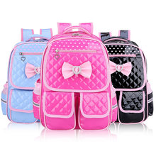 2018 Cute Backpack Schoolbag For Girls PU Waterproof School Bags For Girls 1-3-6 Grade Orthopedic Schoolbag For Girls(China)