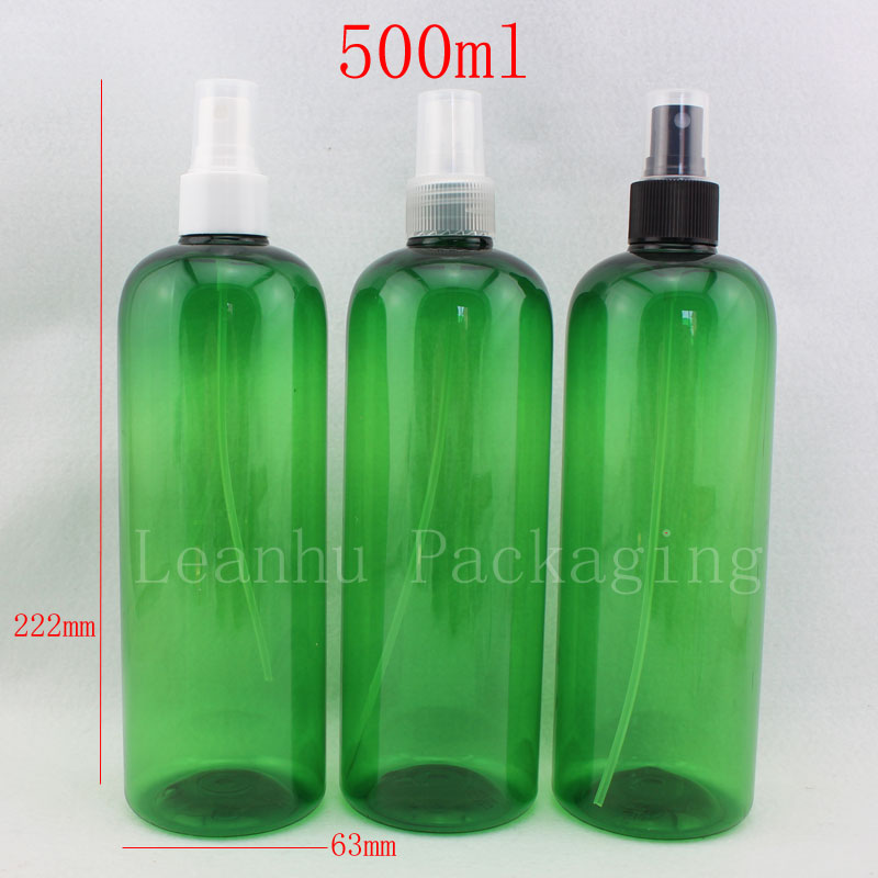 500ml X 12 Green Spray Bottle Empty Cosmetic Containers