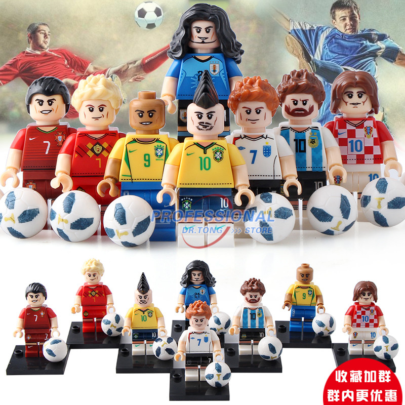2019 Latest Design 20pcs/lot Football Team Super Heroes Messi Ronaldo Chicharito Neymar Jr Beckham Building Blocks Collection Toys Children Gift To Be Highly Praised And Appreciated By The Consuming Public