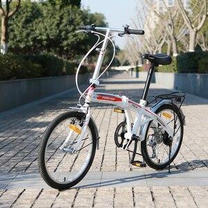 20 بوصة 7 سرعة دراجة قابلة للطي للجنسين جر V الفرامل الخلفية طبلة الفرامل عالية الكربون الصلب القوس تصميم الإطار للطي الدراجة