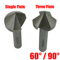 25mm 30mm 35mm 40mm High Speed Steel HSS 60 90 Degree Single One Three 3 Flute