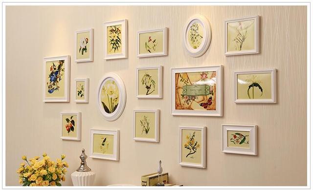 16 PCS/Set Collage Photo Frame Set, Vintage Picture Frames,Home ...