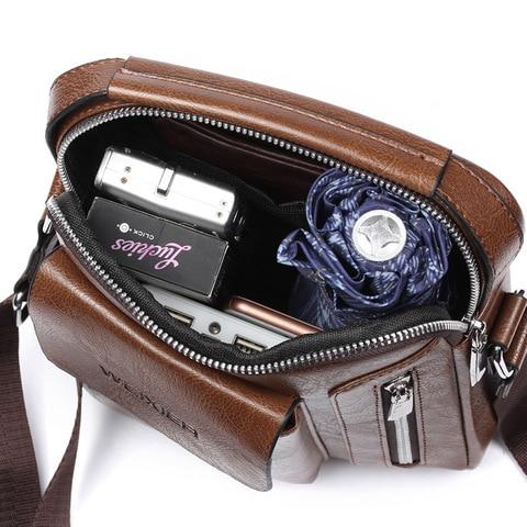 Casual Men Shoulder Bag Vintage Crossbody Bags High Quality Male Bag Leather Handbag Men Messenger Bags WBS510-2 Multan