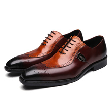 Shoes original leather oxford italian style cod0011