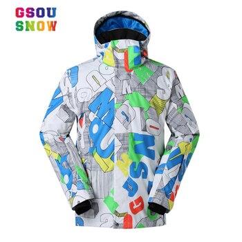 Chaquetas de esquí de invierno para hombre Gsou nieve calidez al aire libre chaquetas de Snowboard impermeables transpirables chaquetas de deporte para hombre talla grande S-XL