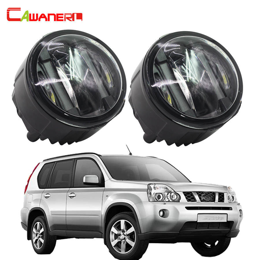 Cawanerl 2 X Car Styling LED DRL Daytime Running Lamps Fog Light For Nissan X-Trail T31 2007 2008 2009 2010 2011 2012 2013 cawanerl 2 x led fog light drl daytime running lamp car styling for nissan tiida hatchback saloon 2007 onwards