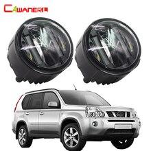 Cawanerl 2 X Car Styling LED DRL Luci di Marcia Diurna Nebbia luce Per Nissan X-Trail T31 2007 2008 2009 2010 2011 2012 2013