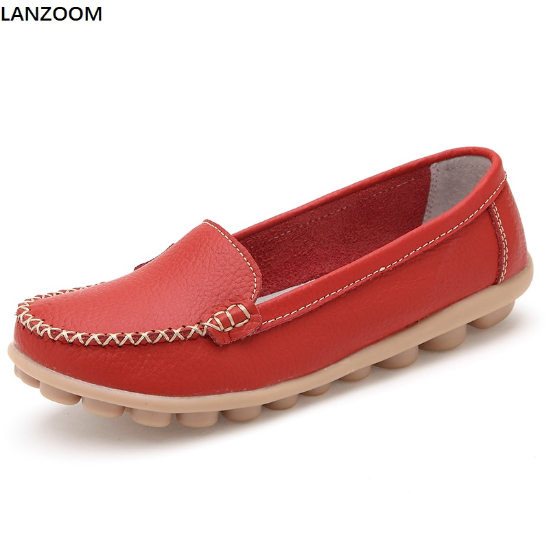 LANZOOM fashion women casual shoes cow split leather drive car shoes soft soles woman slip on flats lady loafers shoes for girl fashion baby flats tassel soft sole cow leather shoes infant boy girl flats toddler moccasin 17mar20