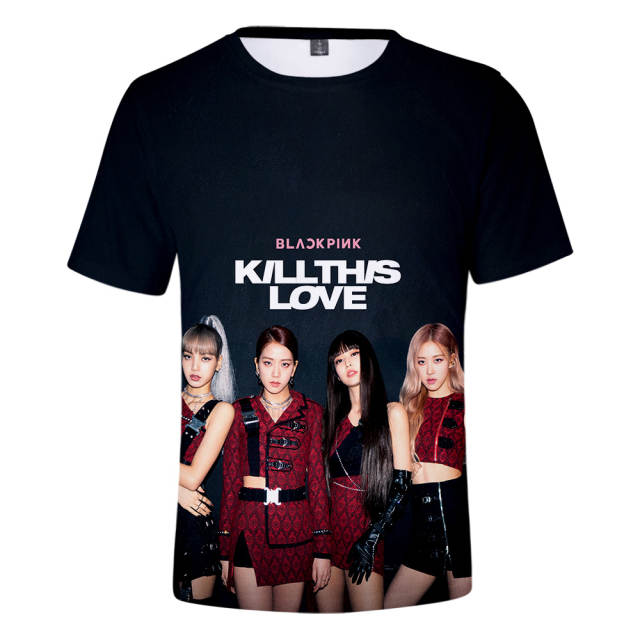 placeholder Summer Women Clothing 2019 Blackpink Kill This Love T Shirts  Hot Sale Short Sleeves 3d Tshirt