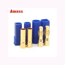 """2 комплекта Amass 5,0 мм EC5 штекер типа """"банан"""" высокий ток 100А с оболочкой температура в оболочке штекер в виде золотой пули"""