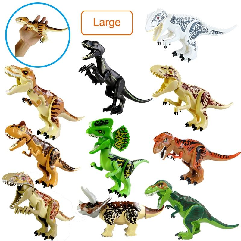 Jurassic Dinosaur World Park Dinosaur Large Pteranodon T.Rex Velociraptor Movie Set Models Building Blocks Bricks Toys Figures