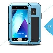 2017 A3 A5 LOVE MEI Case Gorilla Glass  Case For Samsung Galaxy A320 A520 A3 A5 2017 Shockproof Metal Aluminum Armor Phone Cover кейс для назначение ssamsung galaxy a5 2017 a3 2017 прозрачный с узором кейс на заднюю панель слон мягкий тпу для a3 2017 a5 2017