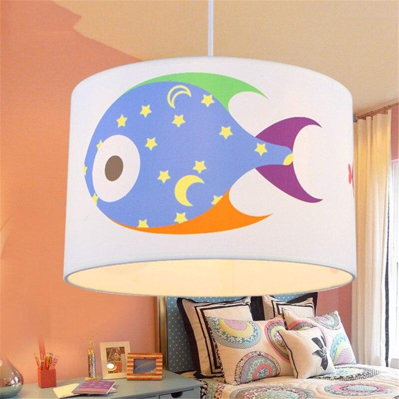 Creative star fish simple children's room cartoon chandelier boys and girls bedroom study warm Chandelier free shipping