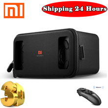 "Original Xiaomi Mi VR Play Black Google Cardboard Xiaomi VR Box Glasses Virtual Reality Goggles for Android iPhone 4.7""-5.7"""
