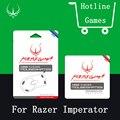 Original 2 mosueskate jogos/pacote 0.28mm desempenho hotline games mouse pés para razer imperator rato etiqueta com grátis pinça