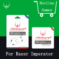 Original 2sets/pack 0.28mm Hotline Games Mouse Feet Performance Mosueskate For Razer imperator Mouse Sticker with free tweezer