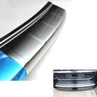 Car Rear Trunk Outer Bumper Guard Skid Protector Sill Plate Cover Styling Sticker Fit For Volvo