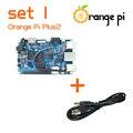 Orange Pi Плюс 2 SET1: Orange Pi Плюс 2 + USB для DC 4.0 ММ-1.7 ММ Кабель Питания Поддерживает Android, Ubuntu, Debian За Малиновый
