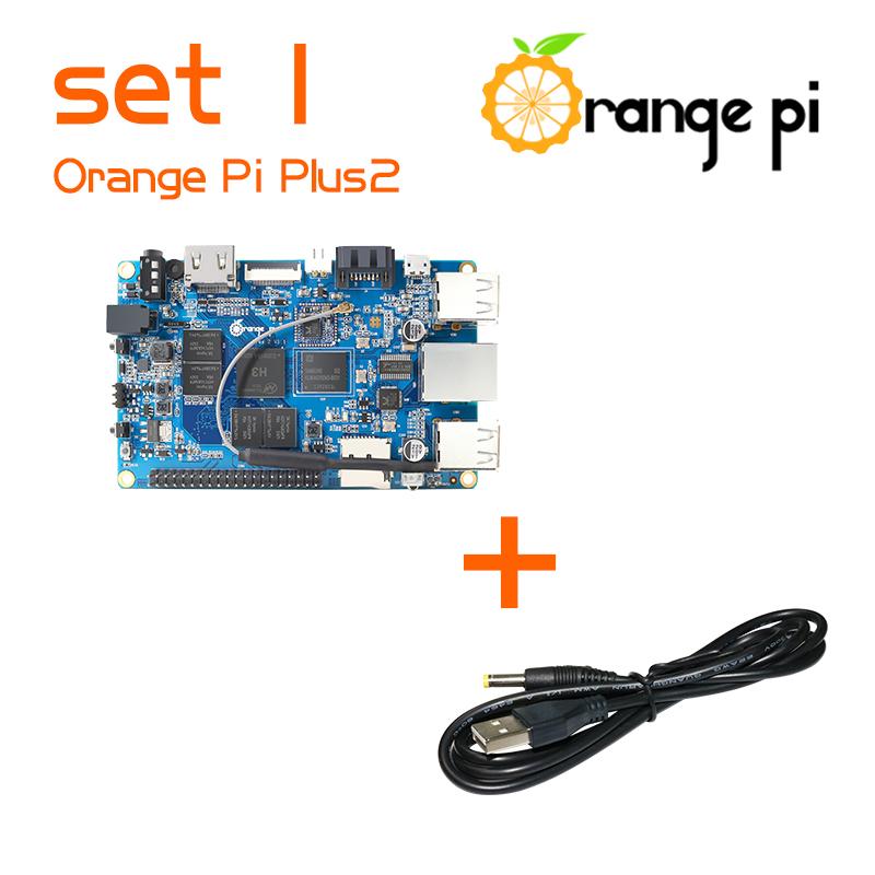 Prix pour Orange pi plus 2 set1: orange pi plus 2 + usb à dc 4.0mm-1.7mm câble d'alimentation soutenu android, Ubuntu, Debian Au-delà Framboise
