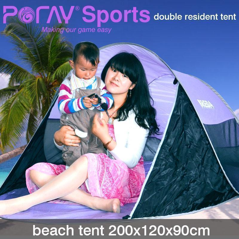 ФОТО Lovers Poray outdoor beach Auto Pop Up tent Sea side 2 person fold tent