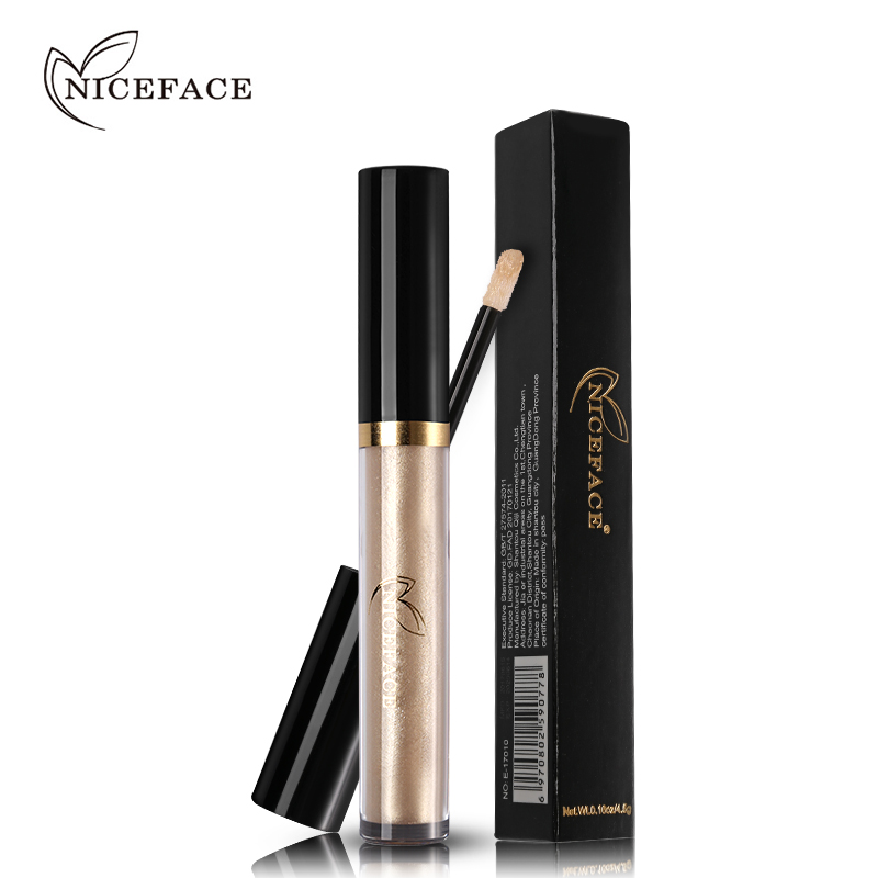 2018 NICEFACE Liquid Eye Shadow Shimmer Glitter Metales Nude Glow - Maquillaje - foto 5