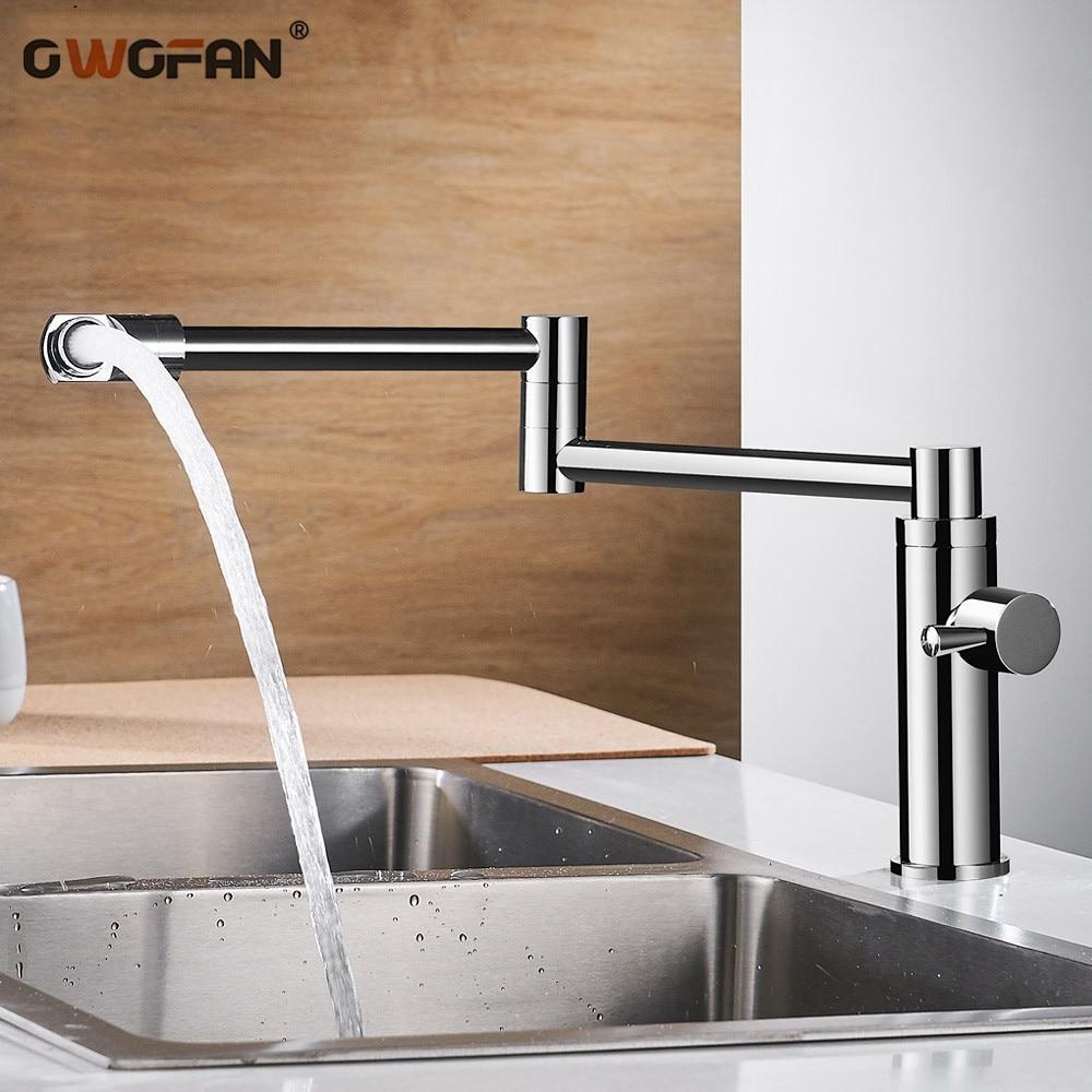 Nova Latão Torneiras de Cozinha Única Torneira de Água Fria para Cozinha Única Alavanca Misturador de Água 360 Rotação Pia Torneira De Enchimento Pote l-888