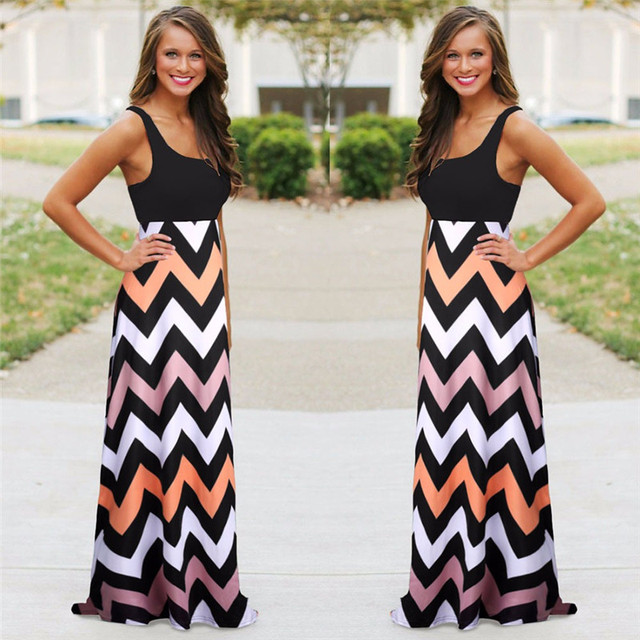 Sleeveless Summer Maxi Dress