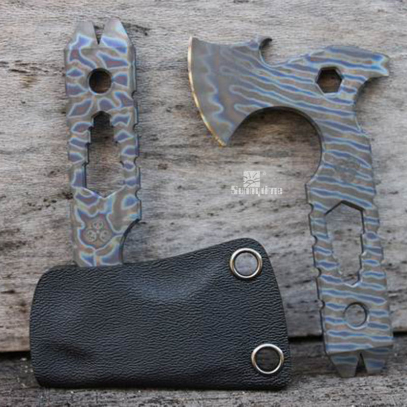EDC outdoor portable tools liquidation axe manual version of the mini flame ax ax camping multifunction pocket axe axe outdoor multifunction camping tools axe aluminum folding tomahawk axe fire fighting rescue survival hatchet
