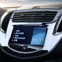 Для Chevrolet Trax- ABS хром/матовая Автомобильная центральная консоль панель вытяжки рамка Стайлинг крышка отделка Аксессуары 1 шт