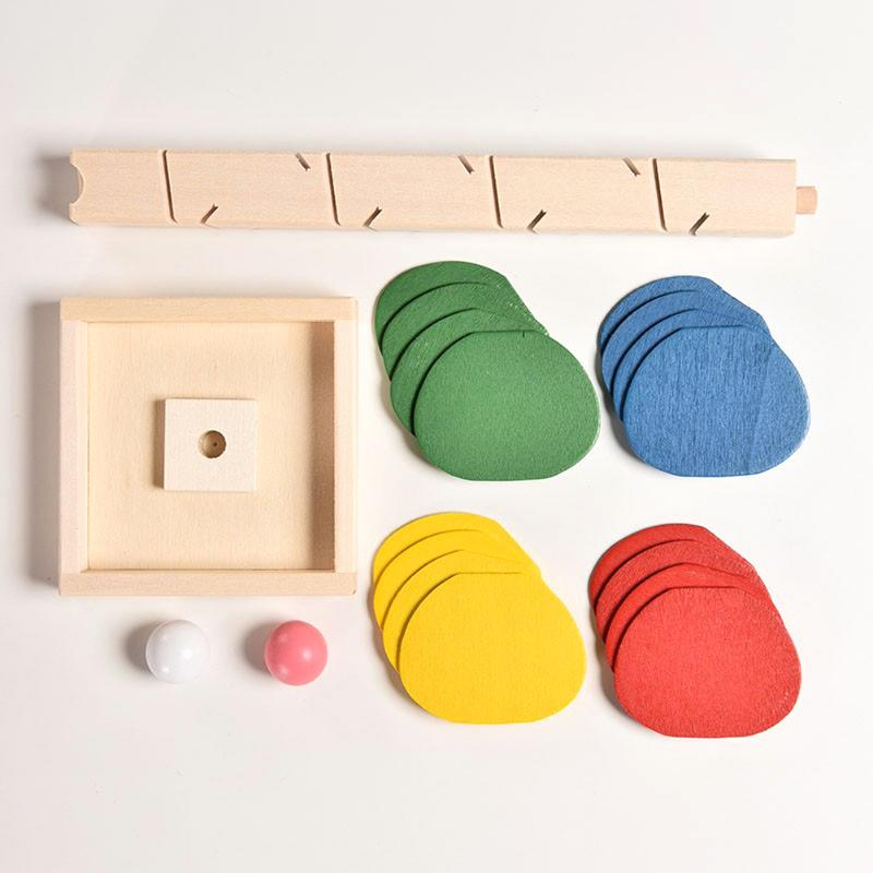 Image 5 - Montessori Baby Blocks toy Wooden Tree Marble Ball Run Track Game Kids Children Educational Intelligence Model Building-in Blocks from Toys & Hobbies
