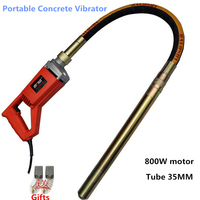 Portable Concrete Vibrator 800W 35MM Plug In Vibrator For Building Industry Practical Construction Tools