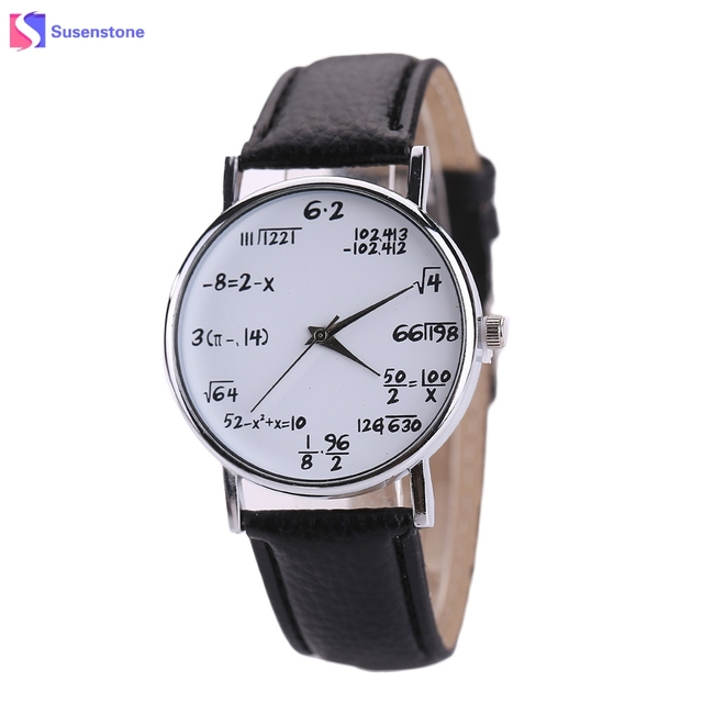 Cheap Hot Sale Women Mens Watches PU Leather Stainless Steel Dial Wristwatch Pri