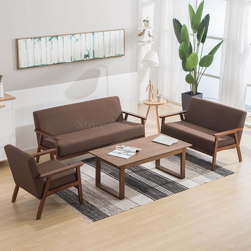 Office sofa coffee table modern minimalist office reception to discuss the meeting business hotel sofa
