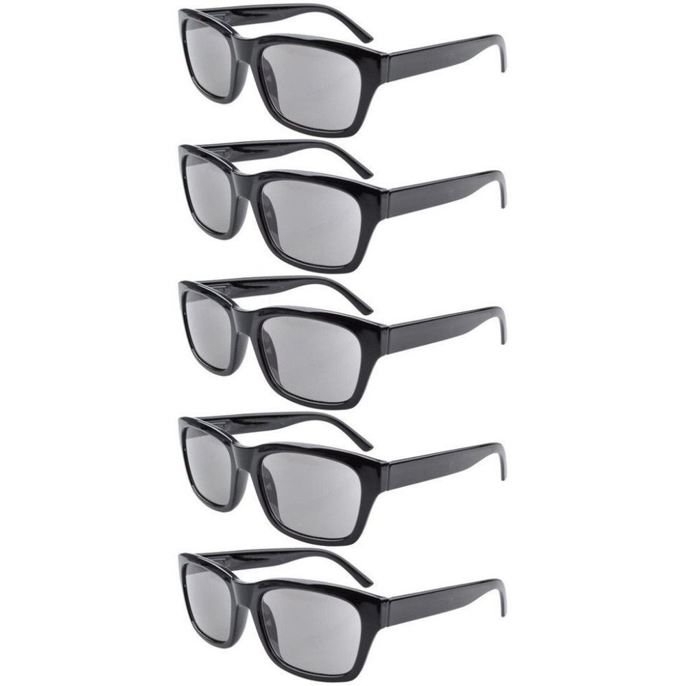 9dc3967aca6 R045 Eyekepper 5 pack Spring Hinges Large Square Frame Reading Glasses  Include Sun Readers +0.50 +4.00-in Reading Glasses from Apparel Accessories  on ...
