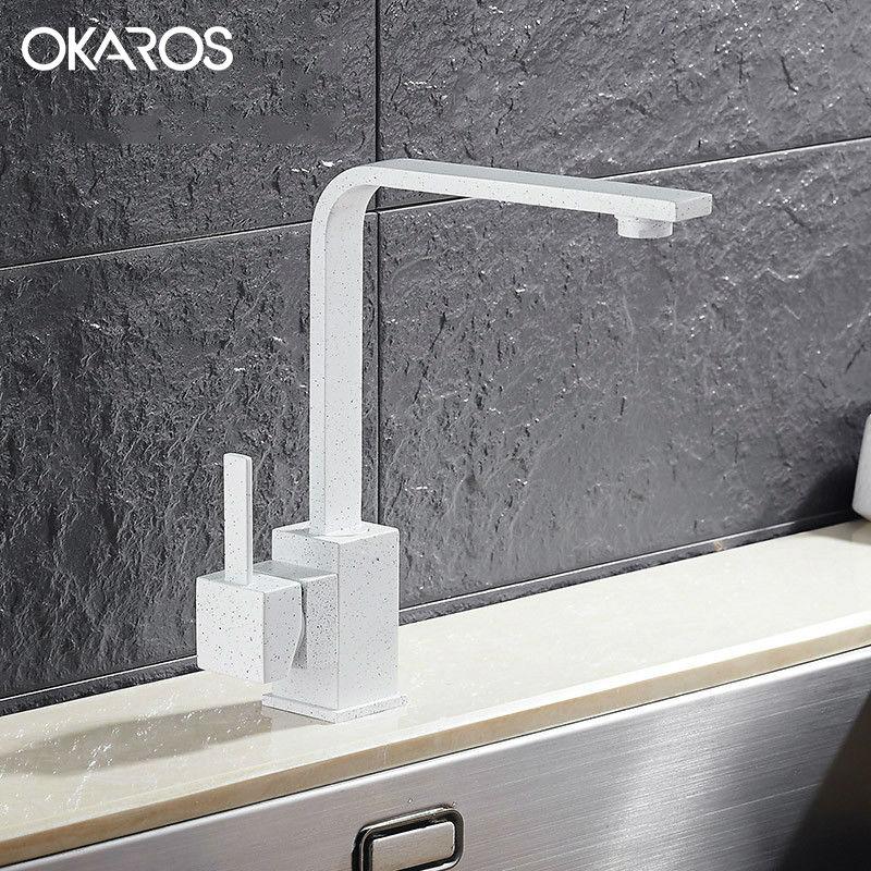 Okaros New Design Kitchen Faucet Quartz Stone Brass Body 360 Degree