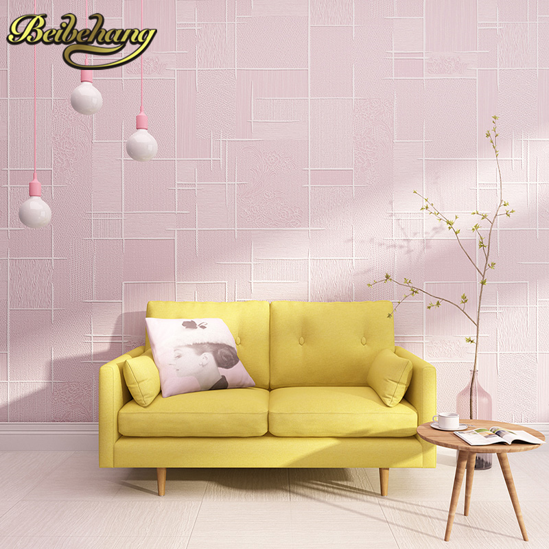 beibehang papel de parede 3D Geometric grid stripes wall paper roll grey pink wallpaper for living room bedroom TV background beibehang papel de parede 3d flooring non woven wall paper bedroom living room tv background wallpaper roll geometric diamond