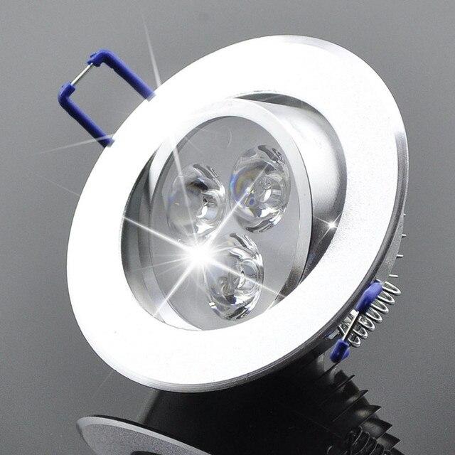 Оптовая 9 Вт Потолочный светильник СИД Epistar потолочный светильник Встраиваемые Пятно света AC85-265v для домашнего освещения светодиодные лампочки
